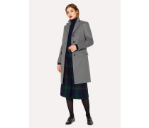 Grey Wool And Cashmere-Blend Epsom Coat
