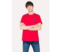 Red 'Dino' Print Organic-Cotton T-Shirt