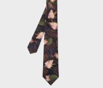 Photographic 'Rose' Print Silk Tie