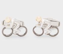 Silver Cyclist Cufflinks