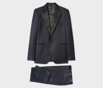 The Soho - Tailored-Fit Navy Houndstooth Evening Suit