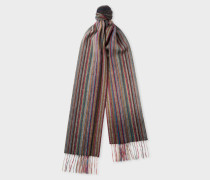Muted 'Signature Stripe' Cashmere Scarf