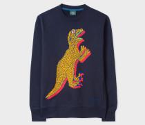 Navy Organic-Cotton Large Dino Sweatshirt