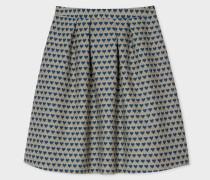 Blue 'Heart' Jacquard Skirt