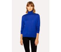 Cobalt Blue Wool Roll-Neck Sweater