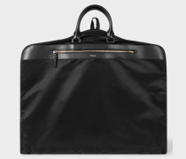 Black Suit Carrier With Leather Trims