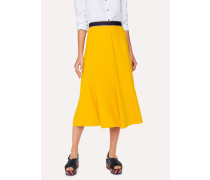 Canary Yellow Skirt With Contrast Waistband