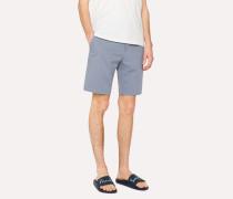 Sky Blue Stretch-Cotton Shorts