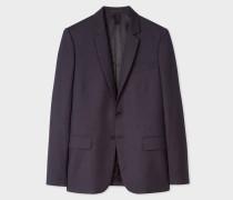 Mid-Fit Navy Check Wool-Blend Blazer