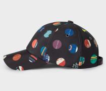 Black 'Cycle Dot' Print Baseball Cap