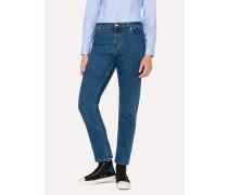 Mid-Wash Girlfriend-Fit Jeans