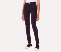 Skinny-Fit Aubergine Denim Jeans