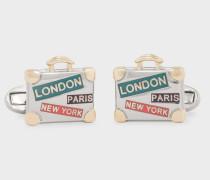 Gold 'Suitcase' Cufflinks