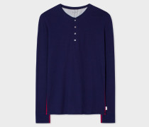 Navy Jersey Henley Top
