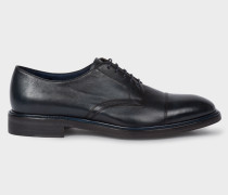 Dark Navy Leather 'Rosen' Derby Shoes