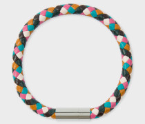 Plaited Multi-Coloured Leather Bracelet