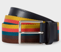 'Bright Stripe' Webbing Belt