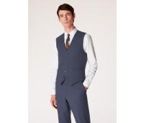 Tailored-Fit Slate Blue Wool Waistcoat