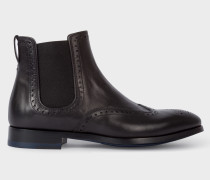 Black Leather 'Bedford' Chelsea Boots