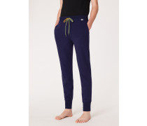 Navy Cotton Jersey Lounge Pants