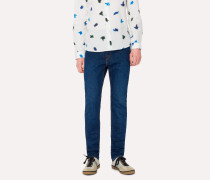 Slim-Fit 12oz 'Authentic Comfort Stretch' Mid Wash Jeans