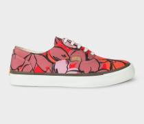 Red Floral 'Balfour' Trainers