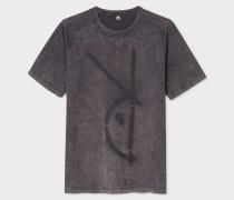 Acid-Wash Grey Red Ear 'Rabbit Spray' T-Shirt