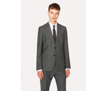 Tailored-Fit Grey Tweed Wool And Silk-Blend Blazer