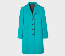 Turquoise Wool And Cashmere-Blend Epsom Coat