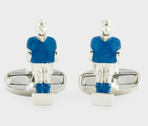 Blue 'Table Football Player' Cufflinks