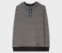 Black Stripe Organic-Cotton Hoodie