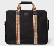 Black Signature Stripe Suit Carrier