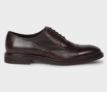 Dark Brown Leather 'Rosen' Derby Shoes