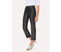 Black Silk-Blend Trousers