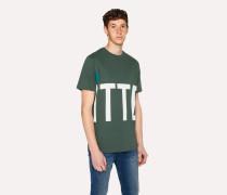 R.E.M. + - Green 'Big Kitten' Print T-Shirt