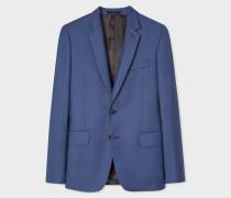 Tailored-Fit Slate Blue Wool Blazer