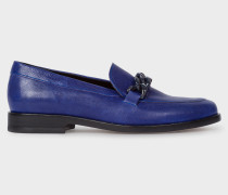 Indigo Calf Leather 'Cora' Loafers