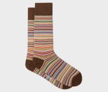 Narrow Signature Stripe Socks