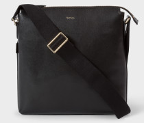 Black Leather 'New City' Small Cross-Body Bag