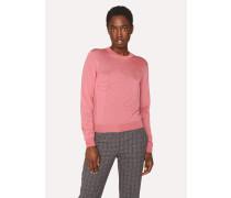 Pink Merino Wool-Blend Sweater