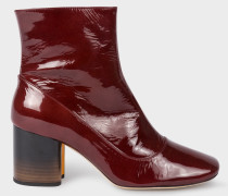 Burgundy Patent Leather 'Nira' Boots