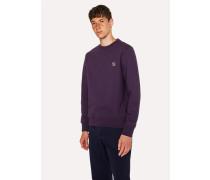 Dark Violet Organic-Cotton Zebra Logo Sweatshirt