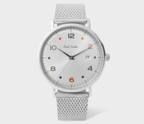 Stainless Steel 'Gauge' Watch