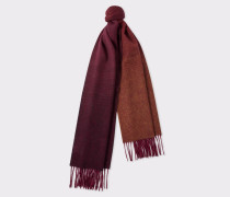 Burgundy Houndstooth Wool And Cashmere Scarf