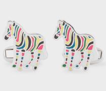 Multi-Coloured Stripe 'Zebra' Cufflinks
