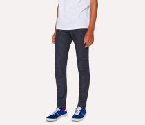Slim-Fit 11.8oz 'Super Soft Cross-Hatch' Indigo Jeans