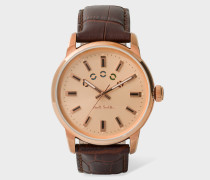 Brown And Copper 'Block' Watch