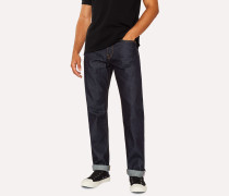 Standard-Fit 13oz Indigo Rinse 'Exclusive And Pink Selvedge' Denim Jeans
