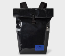 Black PS Print Roll-Top Backpack