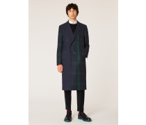 Panelled Tartan Double-Breasted Wool-Cashmere Overcoat